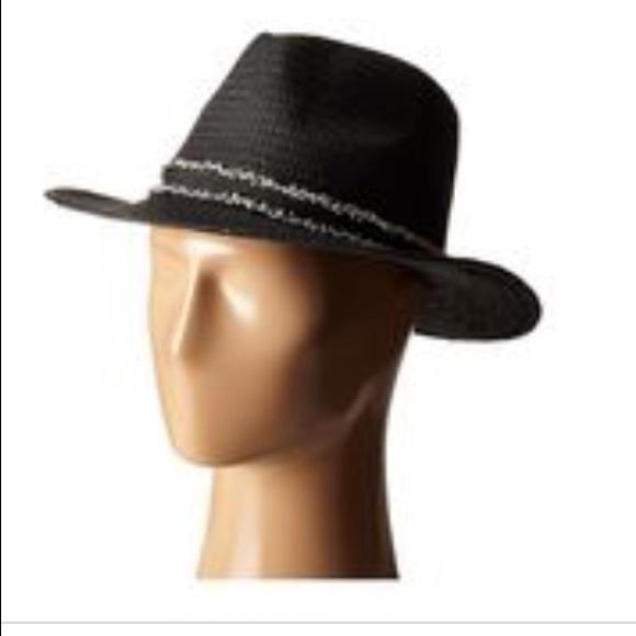 bf93b62b Vince Camuto Accessories | Frayed Band Black Panama Hat | Poshmark